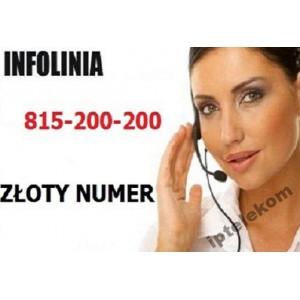 Infolinia 815 200 200 - Złoty Numer